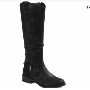 Women's Mossimo Quin faux suede riding boots 6.5